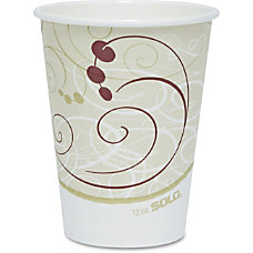 Solo Single sided Poly Hot Cups