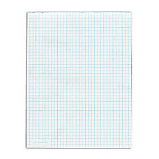 TOPS White Quadrille Pad 50 Sheets