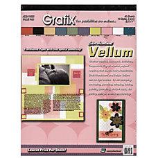 Grafix Translucent Vellum 8 12 x