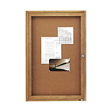 Quartet Solid Oak Frame Enclosed Bulletin