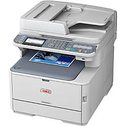 OKI® MC562w Color Laser All-In-One Printer, Scanner, Copier And Fax