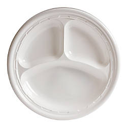 Dart Impact Plastic Plate 3 Compartment
