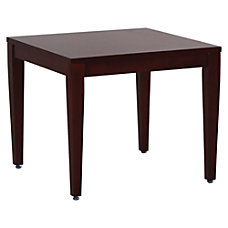 Lorell Solid Wood Corner Table Square