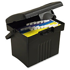 Storex Portable File Box External Dimensions