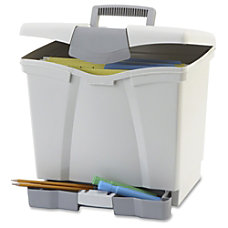Storex Portable File Box w Drawer