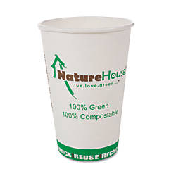 NatureHouse Compostable PaperPLA Cups 8 Oz