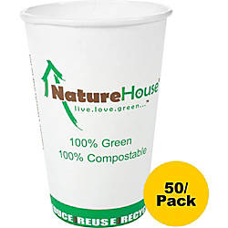 NatureHouse Compostable PaperPLA Party Cups 12
