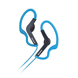 Sony® Sports Style Clip-On Headphones, Blue