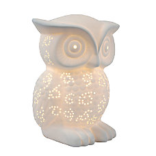 Simple Designs Porcelain Wise Owl Table