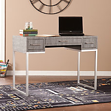 Southern Enterprises Carabelle Reptile Desk BlackGraySilver