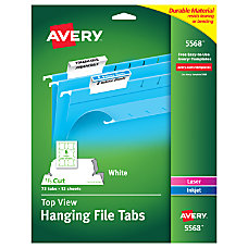 Avery Top View Hanging File Tabs