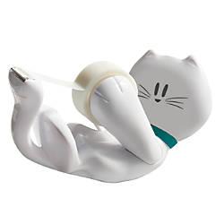 Scotch Tape Dispenser White Kitty