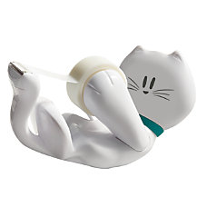 Scotch Tape Dispenser White Kitty