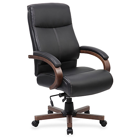Lorell Executive Chair Black Walnut 27 Width X 31 Depth X 47 Height By Office