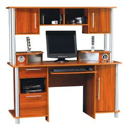Empire Computer Desk With Hutch And USB Hub 60 58 H x 59 58 W x 25