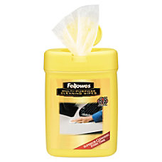Fellowes Multipurpose Cleaning Wipes 3 78
