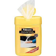 Fellowes Multipurpose Cleaning Wipes