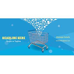 Custom Horizontal Banner Shopping Cart