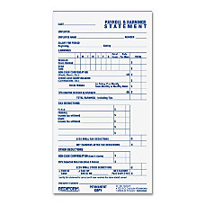 Rediform Individual TimePayroll Record Form 55