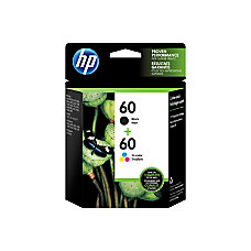 HP 60 BlackTricolor Ink Cartridges N9H63FN140