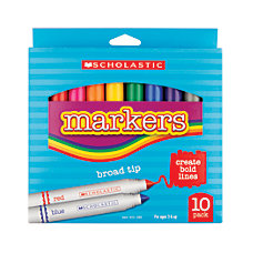 Scholastic Art Markers Broad Tip Assorted