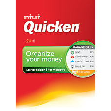 Quicken 2016 Starter Edition Download Version