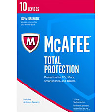 McAfee Total Protection 2017 For 10