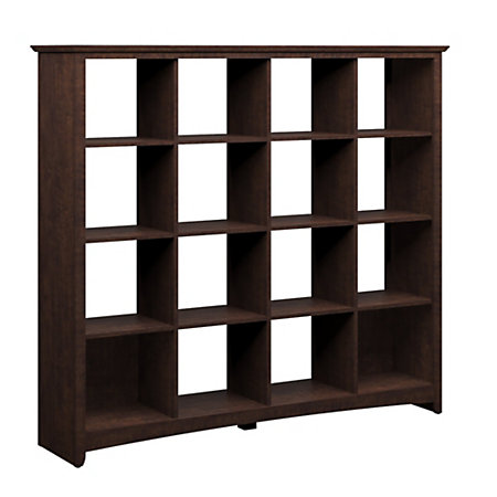 Bush Buena Vista Bookcase 16 Cube 60 1 5 H X