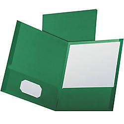 Oxford Linen Twin Pocket Portfolio Letter