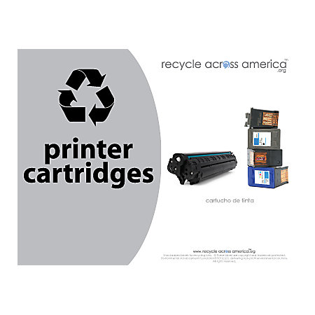 recycle across america ink and toner cartridges standardized recycling labels 8 12 x 11 gray by. Black Bedroom Furniture Sets. Home Design Ideas