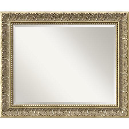 Amanti art silver baroque rectangular wall mirror 28 316 h for Rectangular baroque mirror