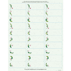 Great Papers Holiday Address Labels Holly
