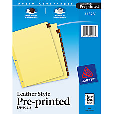 Avery Red 30percent Recycled Leather Preprinted