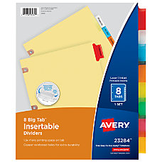 Avery Worksaver 30percent Recycled Big Tab