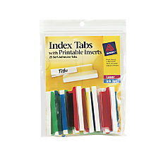 Avery Self Adhesive Index Tabs With