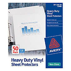 Avery Top Loading Vinyl Sheet Protectors