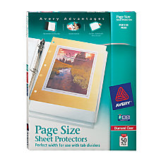 Avery Page Size Sheet Protectors For