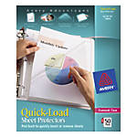 Avery Quick Load Nonstick Sheet Protectors