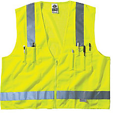 LIME SURVEYOR VEST SOLIDMESH ZIP
