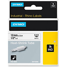 Dymo White Heat Shrink Tube