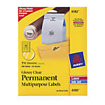 Avery Permanent Glossy Clear InkjetLaser Multipurpose