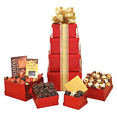Givens Gift Basket Godiva Holiday Tower