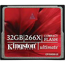 Kingston 32GB Ultimate CompactFlash CF Card