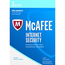 McAfee Internet Security 2017 3 Device