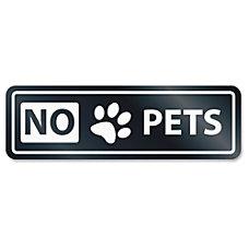 US Stamp Sign No Pets Window