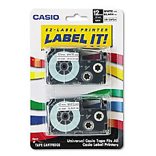 Casio XR1WE2S Black On White Tapes