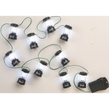 Coleman LED Mini Lantern String Lights 80 String Green by Office Depot & OfficeMax