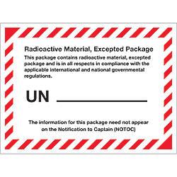 Tape Logic Preprinted Labels Radioactive Material