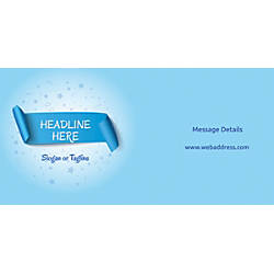 Custom Horizontal Banner Blue Banner