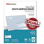 Office Depot Brand White InkjetLaser Return